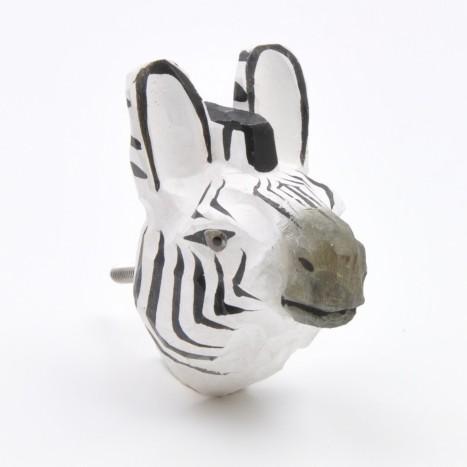 Zebra Animal Knob