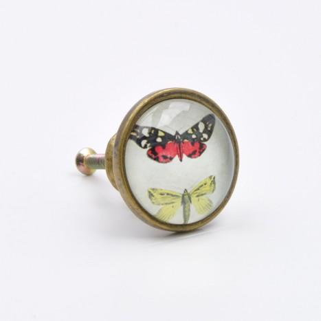 British Butterflies Cupboard Knob - A