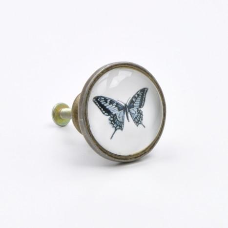 Vintage Butterfly Cupboard Knob