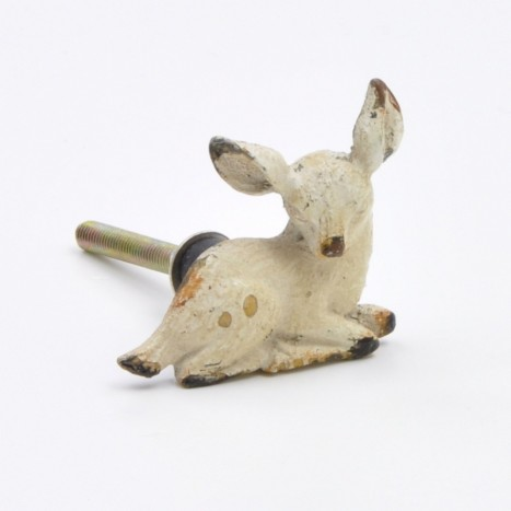 Cute Cream Baby Deer Knob