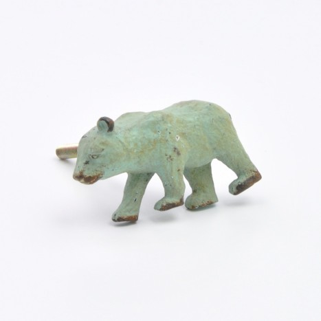 Green Bear Cupboard Drawer Knob
