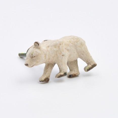 Cream Bear Cupboard Drawer Knob