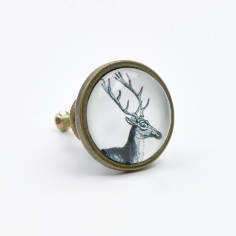 Deer Drawing Drawer Knob