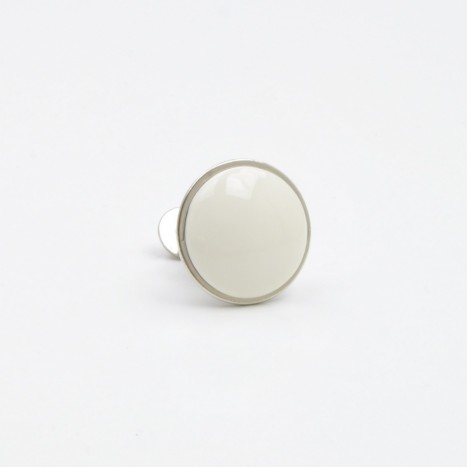 Small Cream Simple Ceramic Knob