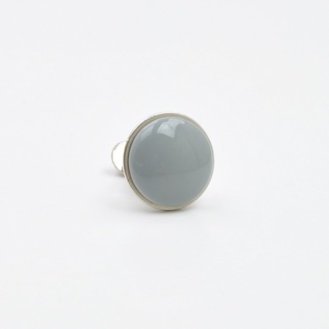 Small Grey Simple Ceramic Knob