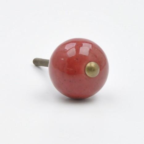 Red Coloured Ceramic Ball Knob