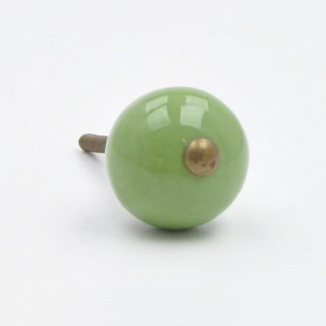 Green Coloured Ceramic Ball Knob