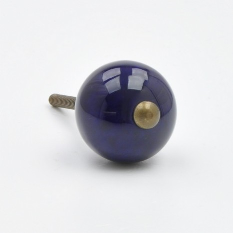 Blue Coloured Ceramic Ball Knob