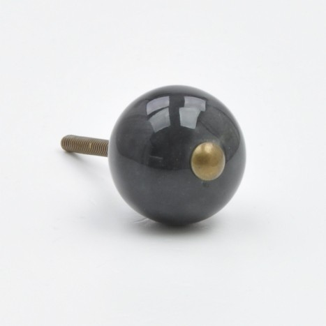 Black Coloured Ceramic Ball Knob