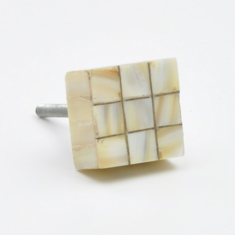 Square Mother of Pearl Drawer Knob