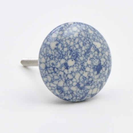 Blue Marble Drawer Knob