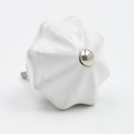 White Chunky Ceramic Knob