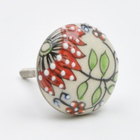 Cute Red Flower Knob