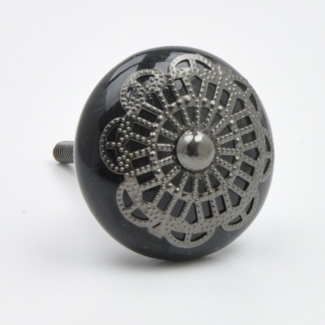 Fancy Black Knob
