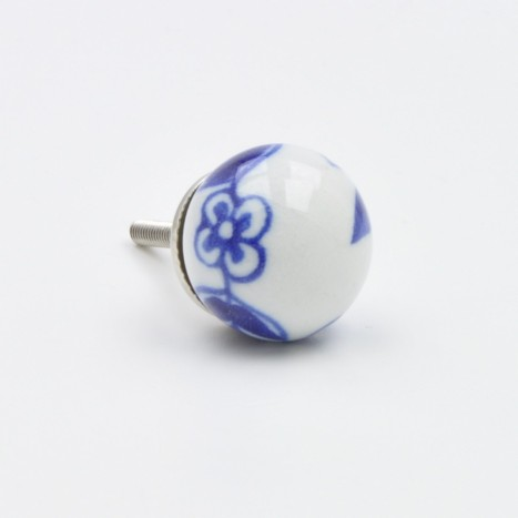 Blue And White Ball Knob