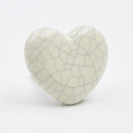 Heart Shaped Ceramic Drawer Knob