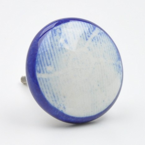 Pretty Blue Natural Rustic Knob