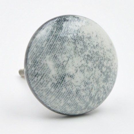 Textured Grey Ceramic Knob
