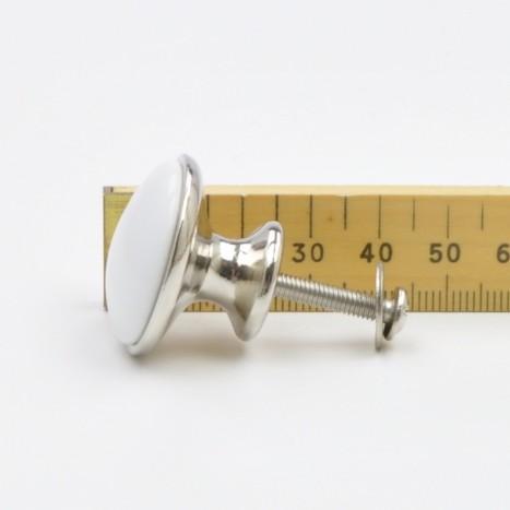 Small White Simple Ceramic Knob