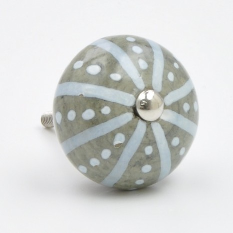 Dots and Stripe Ceramic Knob