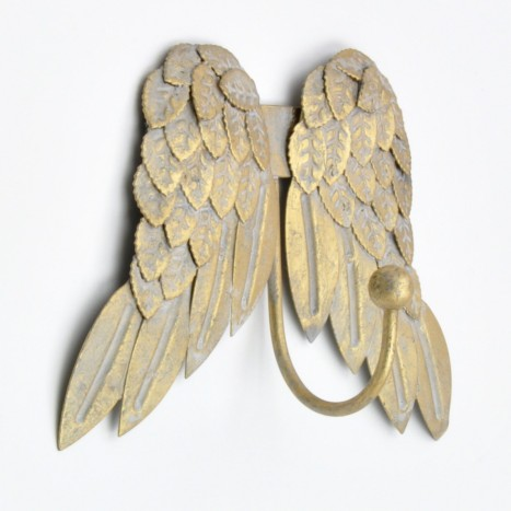 Gold Angel Wings Coat Hook