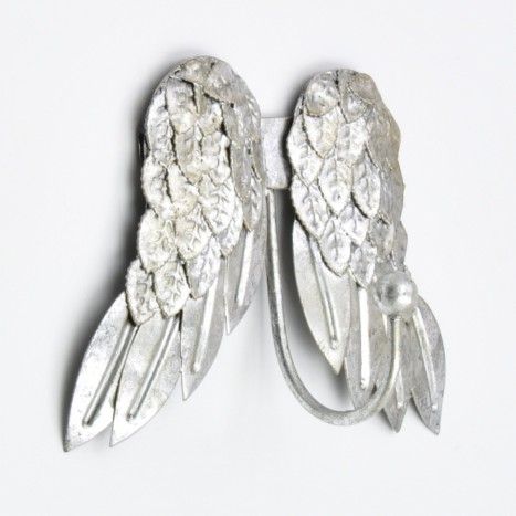 Silver Angel Wings Coat Hook