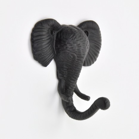 Black Elephant Head Hook
