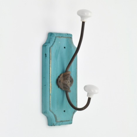 Rustic Turquoise Wall Hook