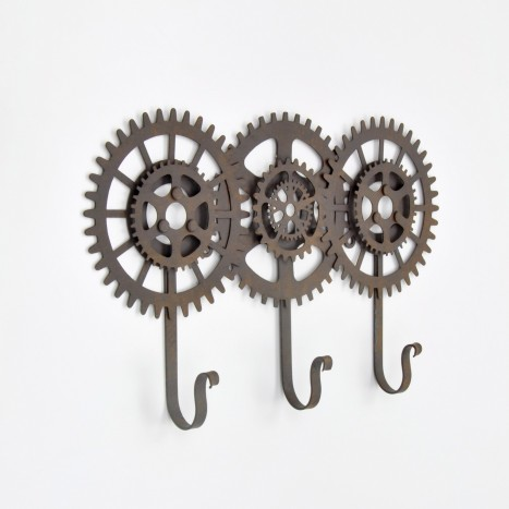 Cog & Wheel Wall Rack