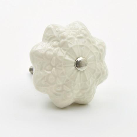 Pretty White Ceramic Knob