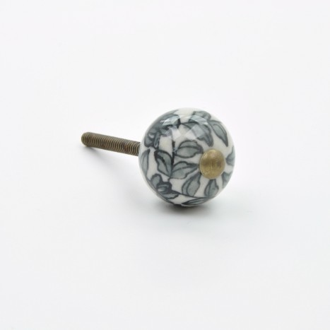 Small Flowery Ceramic Knob