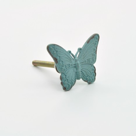 Vintage Green Butterfly Knob