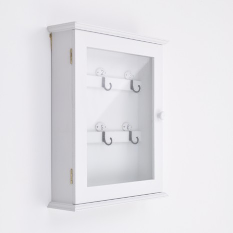 White Glass Door Key Box