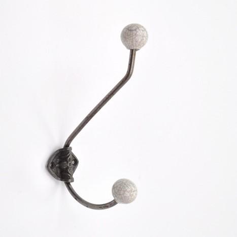 Crackled Ceramic Shop Coat Hook