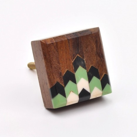 Retro Inlay Square Cupboard Knob