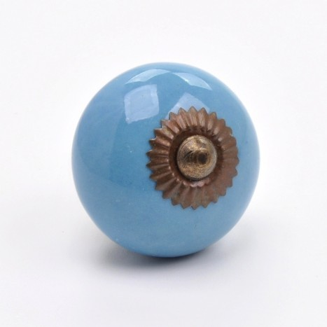 Essential Ceramics Cupboard Knob - Blue