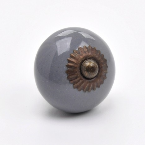Essential Ceramics Cupboard Knob - Grey