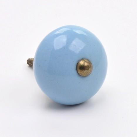 Blue Ball Cupboard Knob
