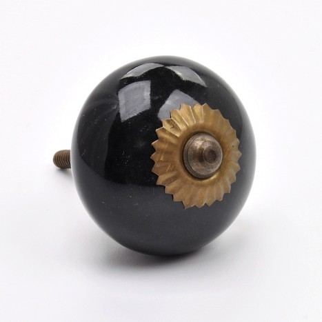 Essential Ceramics Cupboard Knob - Black