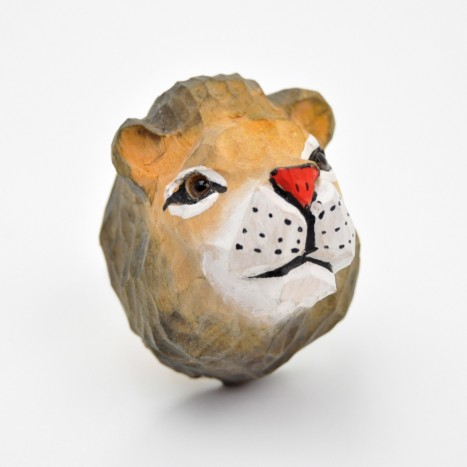 Wooden Lion Head Knob