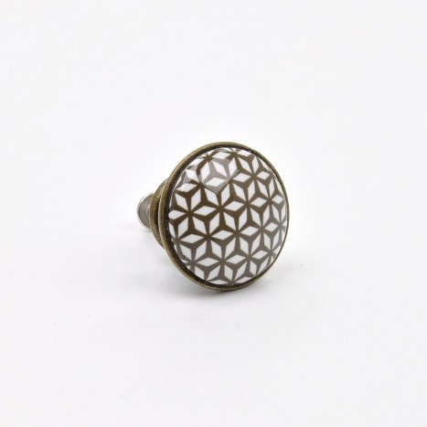 Mini Print Pattern Cupboard Knob - A
