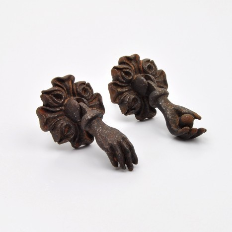 Her Hands Drawer Pulls - Brown
