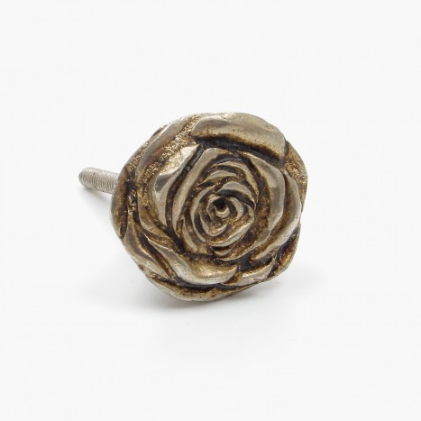 Rustic Rose Cupboard Knob