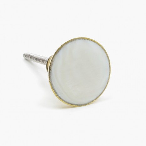 White Pearl Face Cupboard Knob