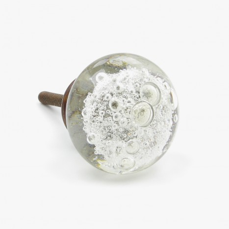 Vintage Bubble Cupboard Knob - Clear