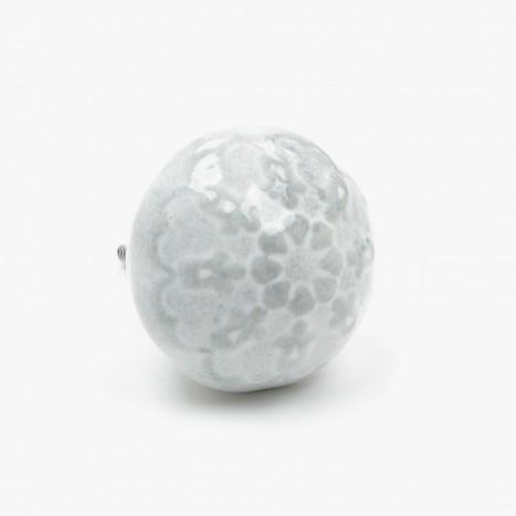 Glossy Glaze Cupboard Knob - Grey