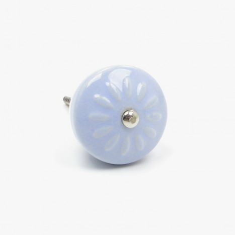 Playroom Ceramic Cupboard Knob - Blue