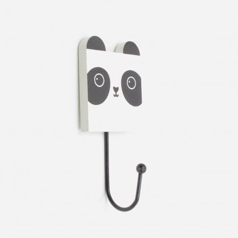Square Head Animals Coat Hook - Panda