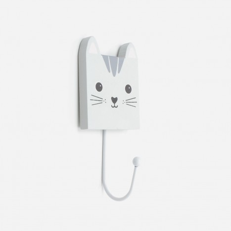 Square Head Animals Coat Hook - Cat