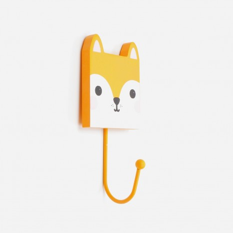 Square Head Animals Coat Hook - Fox